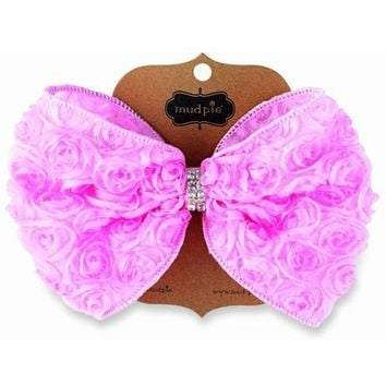 Mud Pie-Light Pink Oversized Rosette Bow
