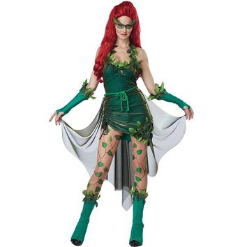 Poison Ivy Lethal Beauty Adult Women Costume Halloween Set