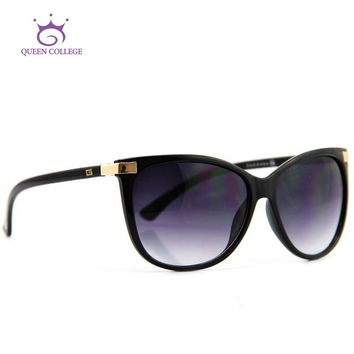 Queen college Brand Design Hot Selling Sunglasses Women Mirror Lens Sun Glasses CE UV400 AE0098