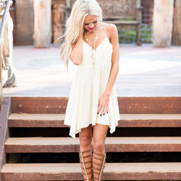 Renewed Spirit Lace Inlay Dress - Ivory
