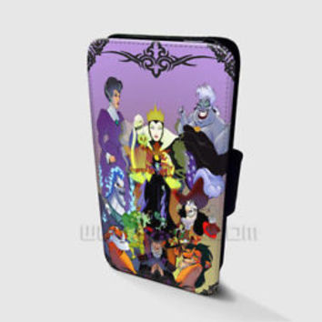 Disney Villains Story Wallet iPhone Cases Cartoon Samsung Wallet Leather Cases