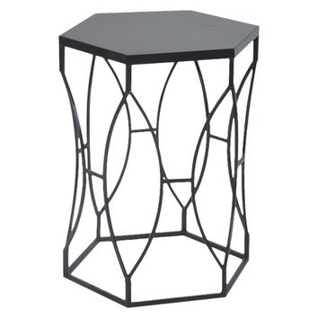Threshold Matte Metal Accent Table - Black: Target