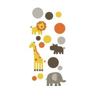 Carter's Sunny Safari Wall Decals (Orange)