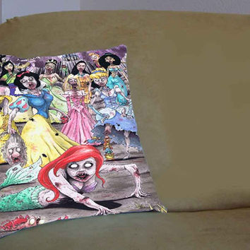 Disney Princess Zombie - Pillow Case, Pillow Cover, Custom Pillow Case **