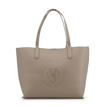 Versace Brown 2 Handles Leather Shopping Bag
