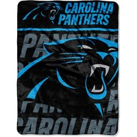 NFL Carolina Panthers Grunge Micro Raschel Throw