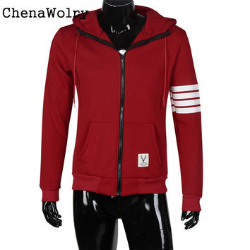 Winter Warm Vintage Casual Attractive Luxury Men Fleece Sweatshirt Hoodie Fashion Zipper Hooded Jackets Free Shipping Dec 27