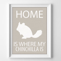 "8x10"" Chinchilla Wall Art, Chinchilla gift, Chinchilla Decor, Chinchilla Print, Chinchilla Pet, Chinchilla Christmas, Chinchilla Birthday"