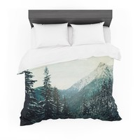 """Robin Dickinson """"On Mountain Time"""" Blue Photography Digital Featherweight Duvet Cover"""