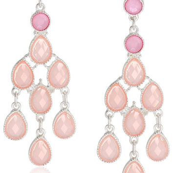 Pastel Lucite Chandelier Earrings