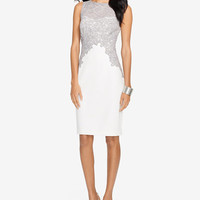 Lauren Ralph Lauren Lace Crepe Dress - Dresses - Women - Macy's