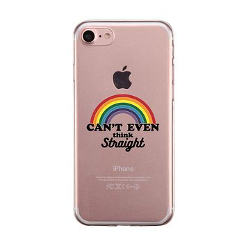 LGBT Can't Straight Rainbow Clear Phone Case