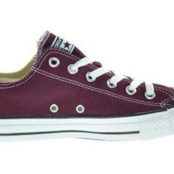 LMFUG7 Converse CT OX Unisex Fashion Sneakers Burgundy