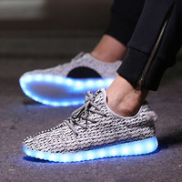 Canvas Shoes With Led Light Up Soles