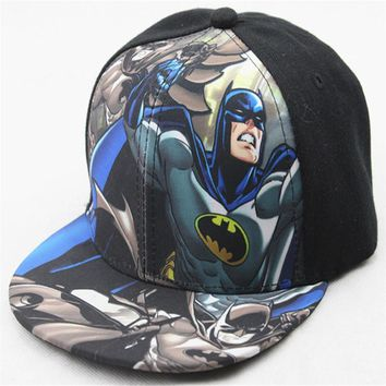 Trendy Winter Jacket Unisex Baseball Cap Fashion Iron Man Captain Superman Batman Spider-Man One Piece Snapback Caps Hip Hop Hat For Men Women AT_92_12