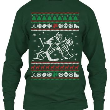 Hockey Goalie Ugly Christmas