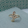 Treble Clef Ring in 14k gold filled by Laladesignstudio on Etsy