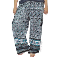 Indian Print Cargo Pants on Sale for $34.95 at HippieShop.com
