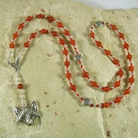 Loki Prayer Bead Necklace in Carnelian: Norse God of Chaos, Change, Transformation