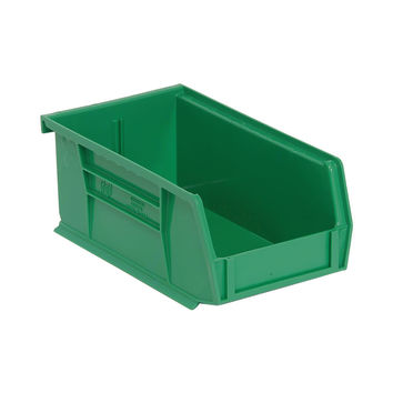Quantum Storage Systems Ultra Stack And Hang Bin 7-3/8Lx 4-1/8Wx 3H - Green Pack Of 24