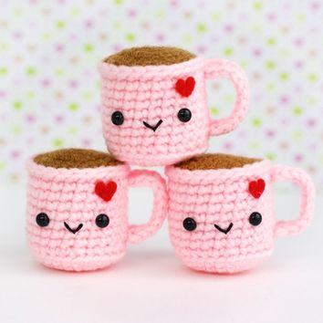 Tiny Coffee Amigurumi with Heart