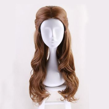 Top Beauty and the Beast Princess Belle wig Cosplay Costume Women Long Wavy Synthetic Hair Halloween Party Role Play wigs