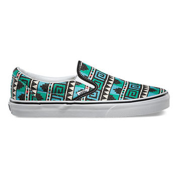 Vans Classic Slip On(Geo)Black/Scuba