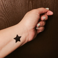 Large Star Tattoo Temporary Set of 4
