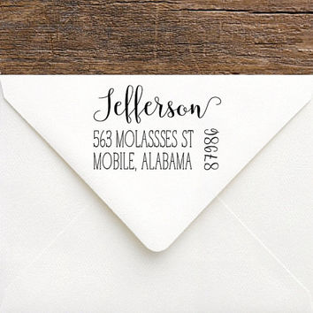 Personalized Address Stamp | Rustic Return Address Stamp | Custom Rubber Address Stamp | Rustic Wedding Stamp | Personalized Shower Gift