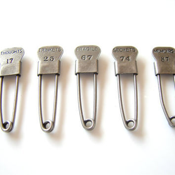$1.99 Metal Laundry Pin Style Trinket Pins in Antique by ThirdShift