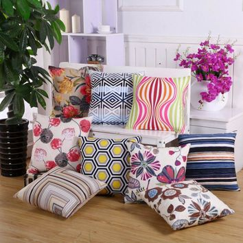 45*45mm Pillow Case Cover Living Room Bed Chair Seat Throw Cushion Pillowcases