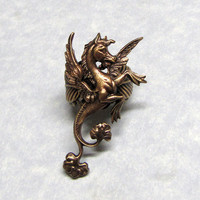 Fairytail Horse Griffin Leaf ring by ranaway on Etsy