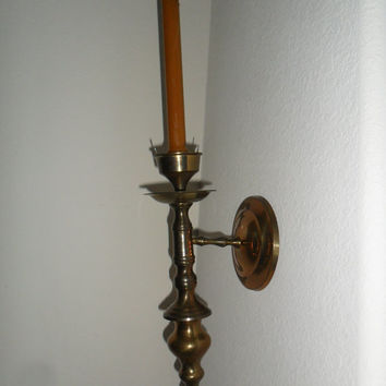 Vintage Brass Wall Candle Sconce