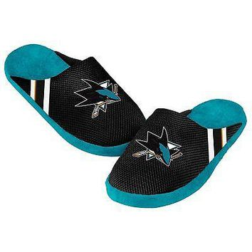 Sharks Jersey Mesh SLIDE SLIPPERS New -   - San Jose Sharks - NHL