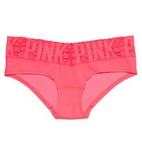 Logo Lace Hipster Panty - PINK - Victoria's Secret