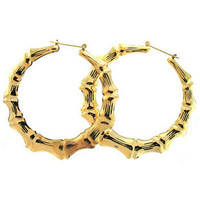 "3.5"" Bamboo Hoops Earrings"