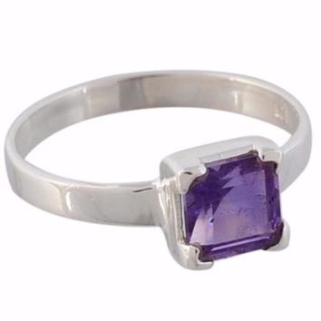 Arvino 925 Sterling Silver Cute Square Ring With Multi Stone Options