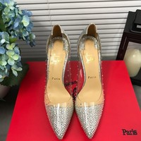 Christian Louboutin Cl Degrastrass Pumps Silver - Best Deal Online