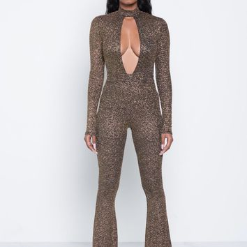 Gold Polyester Solid sexy Jumpsuits & Rompers