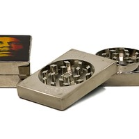 Marley Rasta Colored Flat Herb Grinder