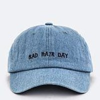 Light Denim Embroidered Cap