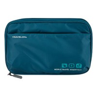 Teal World Travel Essentials Tech Organizer