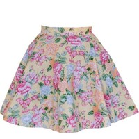 Yellow Floral FullCircle Skirt | Style Icon`s Closet