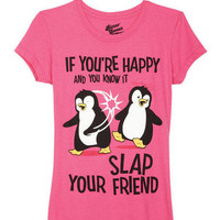 If You're Happy Penguins Tee