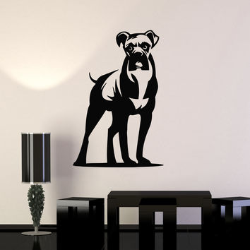 Wall Stickers Vinyl Decal Dog Animal Boxer Great Room Decor Unique Gift (ig298)