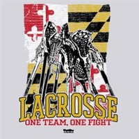 Lacrosse Maryland Flag One Team One Fight
