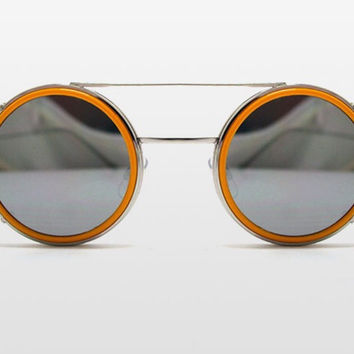 Sonic Sunglasses with Yellow Frame and Silver Mirror by Spitfire