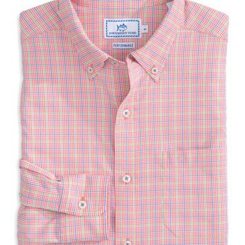 EDISTO ISLAND PLAID INTERCOASTAL PERFORMANCE SHIRTStyle: 2875