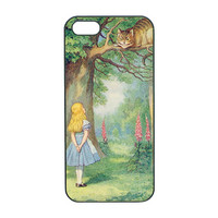 Alice and Cheshire Cat Custom iphone 4 Case, iphone 4S,iphone 5 case ,iphone 5s case,samsung galaxy S3 case,samsung S4 case,note 2 case