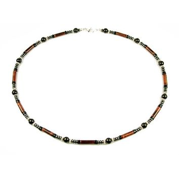 Mens Chakra Necklace Tigers Eye Crystal Healing Stones Energy Balancing Jewelry FOCUS MN03
